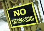 No Trespassing gate