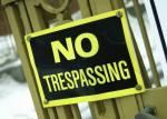 No Trespassing gate